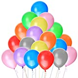 100Pcs 12'' Assorted Color Premium Quality Latex Balloons for Parties, Birthdays,Festival and Events