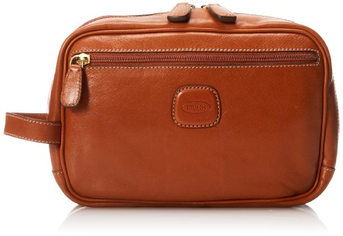 Bric's Luggage Life Pelle Traditional Shave Case, Cognac, One Size by Bric's