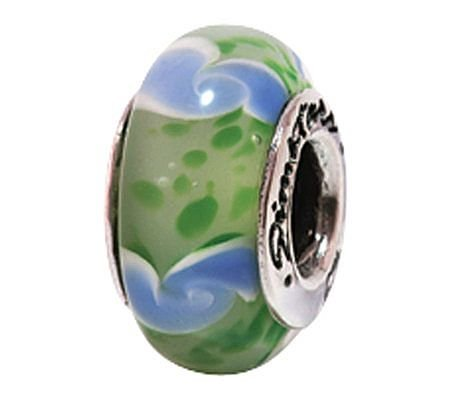 Prerogatives Sterling Green and Blue Glass Bead