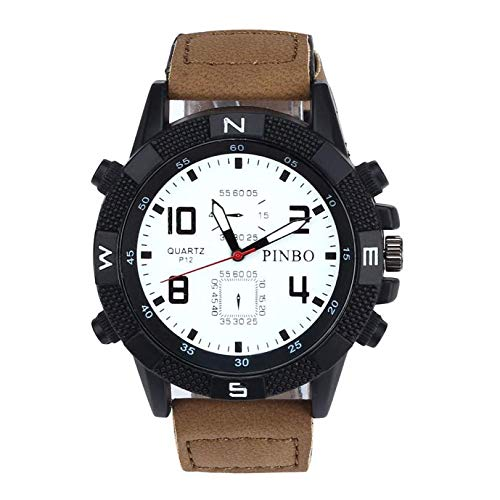 Coconano Reloj Hombre, Correa de Lona Con Esfera Grande y Reloj deportivo Militar de Cuarzo: Amazon.es: Ropa y accesorios