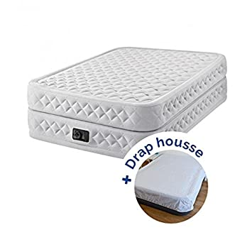 Pack Colchón hinchable Intex Supreme Bed Fiber-Tech 203 x 152 x 51 ...