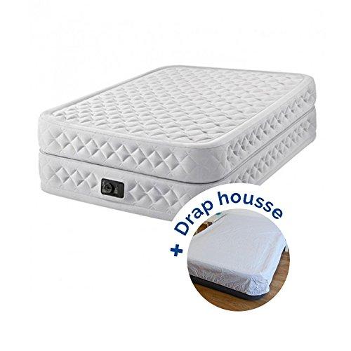 Pack Colchón hinchable Intex Supreme Bed Fiber-Tech 203 x ...
