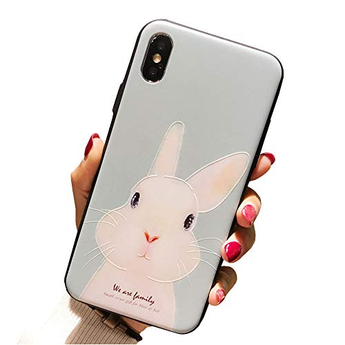 Iphone 7 Case iphone 8 Cover Case Super Cute Cartoon Soft TPU Bumper Hard PC Back Cover For Girls 360 Degree Protection (Cute ()