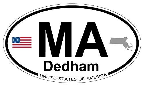 Dedham, Massachusetts Oval Sticker