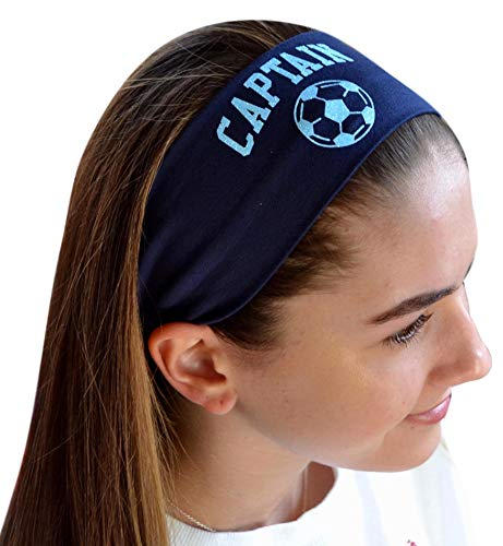 Design Your Own Soccer Ball (Design Your Own Personalized SOCCER Cotton Stretch Headband with GLITTER Text And CUSTOM Name By Funny Girl)
