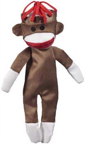 JW Pet Company Crackle Heads Canvas Monkey Dog Toy, (Jw Pet Plastic Balls)