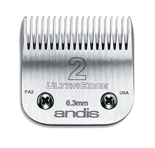 (Andis Carbon Infused Steel UltraEdge Clipper Blade, Size-2, 1/4-Inch Cut Length (64078) )