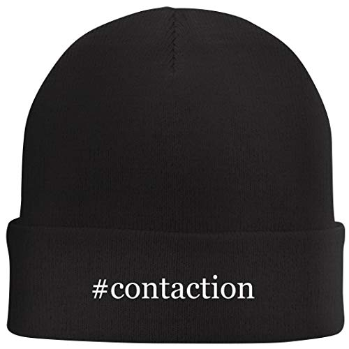 Tracy Gifts #Contaction - Hashtag Beanie Skull Cap with Fleece Liner, Black, One Size