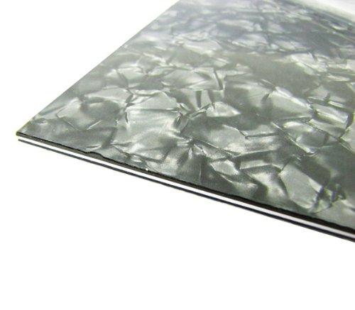 IKN 3Ply Guitar Bass Pickguard Pearl Black Blank Material Blank Scratch Plate 435x290mm