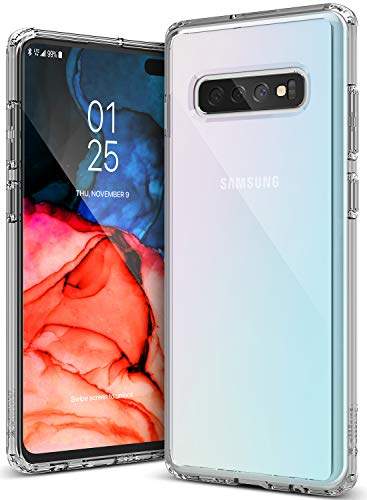 Caseology Waterfall for Galaxy S10 Plus Case (2019) - Minimal & Transparent - Clear