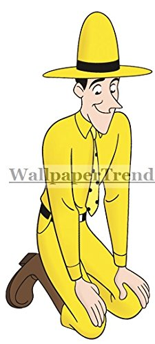 7u0026quot; Curious George Man In Yellow Hat Monkey Animal Removable Peel Self  Stick Adhesive Vinyl Part 45