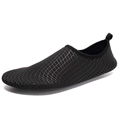 Tcife Männer Frauen Barfuß Wasser Aqua Schuhe Haut flexible Socken für Schwimmen, Wandern, Garten, Park, Fahren, Yoga, See, Strand Swim Q.blacks