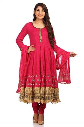 BIBA-Womens-Kalidar-Cotton-Kalidar-Round-Neck-Suit-Set
