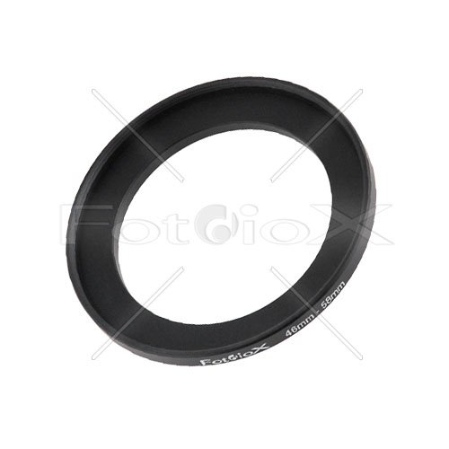 (Fotodiox Metal Step Up Ring Filter Adapter, Anodized Black Aluminum 46mm-58mm, 46-58 mm)