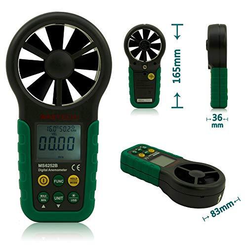 MTSBW MS6252B anemómetro Digital Viento medidor de Velocidad de Aire Volumen Temperatura Ambiente probador de Humedad con...