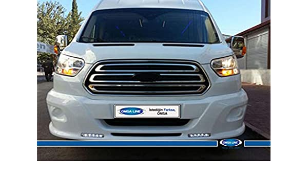 FIT FOR FORD TRANSIT CHROME FRONT GRILL COVER AND FRAME 5 PCS S.STEEL 2014-2018