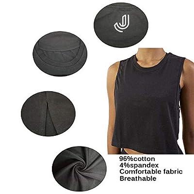 Women Summer Short-Sleeved T-Shirt Crop Top Sleeveless Racerback Workout Yoga Short Tank Top.JNINTH at Women's Clothing store