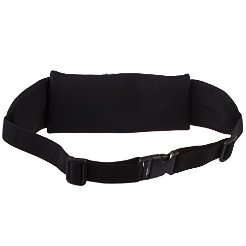 Lilware Waist Bag Sicherheit Hüfttasche Mit Geräumig Tasche. Flexible und Verstellbare Gürtel für Laufen, Radfahren, Wandern, Geocaching und Andere Aktivitäten. Schwarz