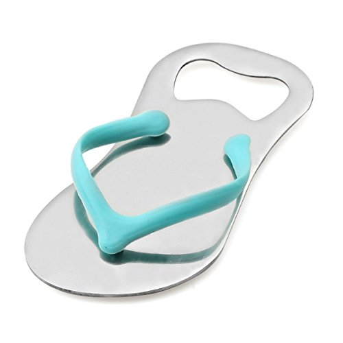 KateMelon Personalized/Custom Engraved Flip-Flop Bottle Opener Favors - Set of 60, Blue