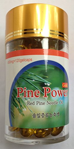 Wild Crafted Red Korean Pine Needle Oil 120 Veg Capsules