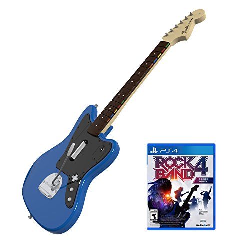Rock Band Rivals Wireless Fender Jaguar Bundle for PlayStation 4 (Rock Band Guitar Strap)