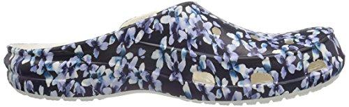 Sabots blue Femme Bleu floral Crocs Fsailgrphclgw xw0TH5