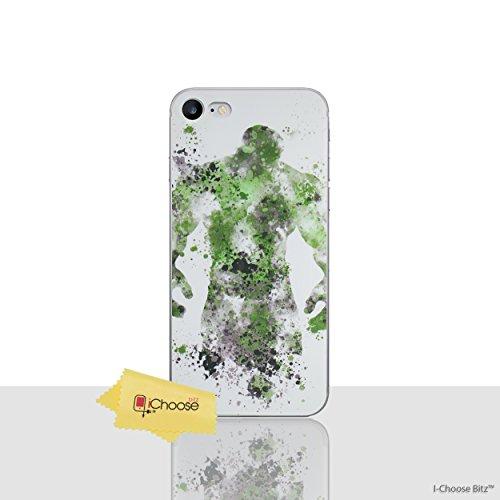 iPhone 6/6s Marvel Arte de Fan Estuche de Silicona / Cubierta de Gel para Apple iPhone 6S 6 (4.7) / Protector de Pantalla y Paño / iCHOOSE / Capitán América Hulk