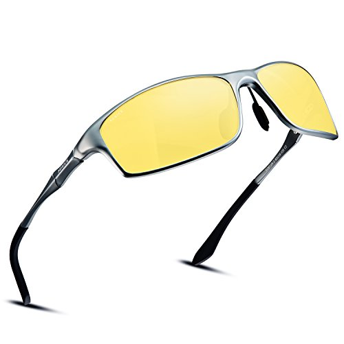 (Soxick Night Driving Polarized Glasses for Men Women Anti Glare Rainy Safe HD Night Vision HOT Fashion Sunglasses)