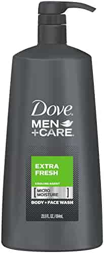 Dove Men+Care Body Wash with Pump, Extra Fresh 23.5 oz