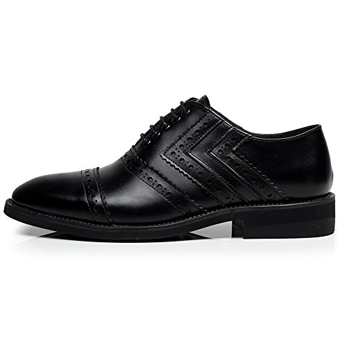 Oxfords Dress European SN16899 rismart Shoes Lace Leather US11 Black Up Trendy Newly Men's Brogues xYxwHIF