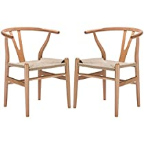 Poly and Bark Wegner Wishbone Style Chair, Natural, Set of 2