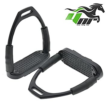 YNR ® Flexible Safety Stirrups Horse Riding Bendy Irons S. Steel Black  4.75  Amazon.co.uk  Sports   Outdoors 98c1210c303