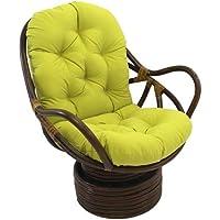 International Caravan 3310-TW-ML-IC Furniture Piece Swivel Rocker with Twill Cushion