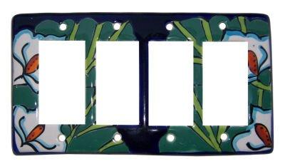 Lily Talavera Quadruple Decora Switch Plate by Fine Crafts & Imports