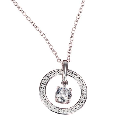 Avon Sterling Silver Eternal Spark Necklace with CZ Accent (Avon Cz)