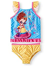 Fancy Nancy Girls Swimsuit Tankini Two Pc Set Toddler Little