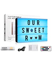 Cinema Light up Box A3 Light Cinematic Box with 150 Letters Numbers and Emojis Light up Signs Battery and USB Power