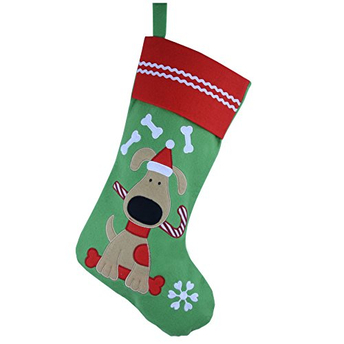 WEWILL Lovely Embroidered Pets Pattern Christmas Stockings Dog or Cat 16-Inch Length (Dog)]()