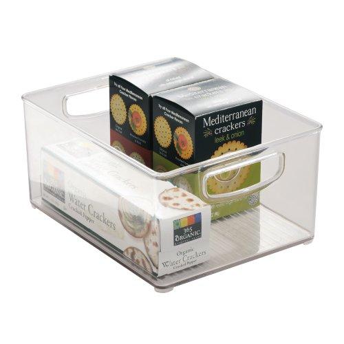 InterDesign Organizer-Box für Küchenschrank und Speisekammer - 25,5 x 20,25 x 12,75 cm, Durchsichtig