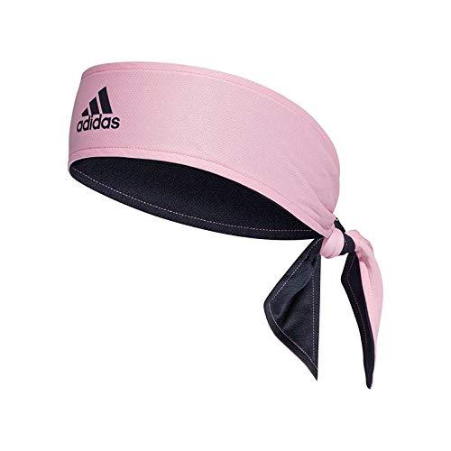 adidas Spring Tennis Reversable Tie Headband Pink/Navy