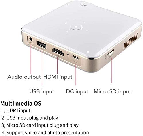 Mini Proyector Portátil, Proyector Dlp Android 6.0, Soporte 1080p ...