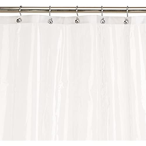 Carnation Home Fashions 10 Gauge PEVA 72 By 84 Inch Shower Curtain Liner, X  Long, Super Clear