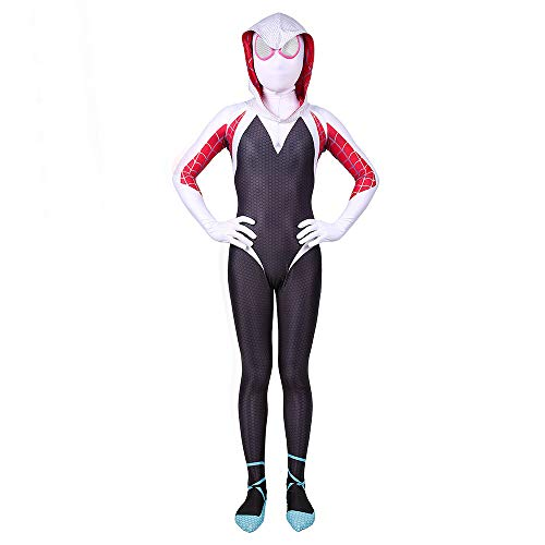 Bisika Cos Unisex Lycra Spandex Halloween Cosplay Costumes Bodysuit Adult/Kids 3D Style (Kids M, Multicolored)