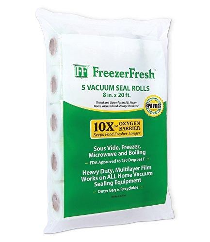 20' Foodsaver Roll - 5 Pack – Freezer Fresh 8