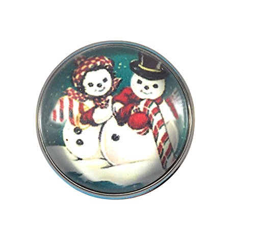 Chunk Snap Charm Christmas Snowman and Snowlady Standard Size 20mm 3/4