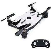 JJRC H49WH 6-Axis Mini Drone Gyro WIFI FPV RC Drone with Camera 720P Quadcopter Foldable G-sensor RC Selfie Pocket Drone (Silver)