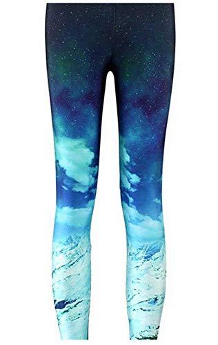 Treggings Moda Pantalones Bleached Casuales Size 1 Jeggings Elásticos color Verano De Medias Leggings Xl Blue Playa Mujeres Las qddXwr5