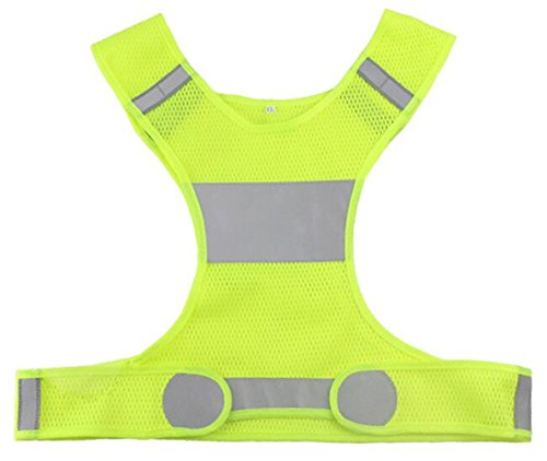 Tactical High Vis Reversible Jacket (FitnessSun - Safety Gear Reflective Vest High Visibility Day And Night for all Outdoor Activities - Adjustable Fit for Men & Women)