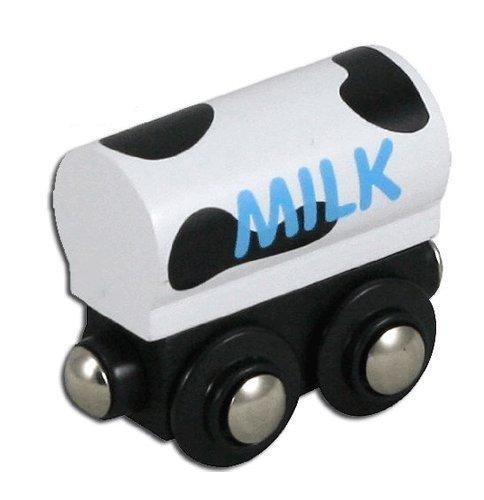 Milk Train - Li'l Chugs Wooden Trains Milk Freight Car