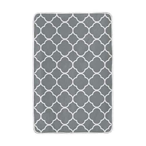 7b85faf86527 Amazon.com: Lilibeely Ultra Soft Microplush Velvet Grey White ...